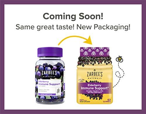 Zarbee S Naturals Elderberry Immune Support Gummies With