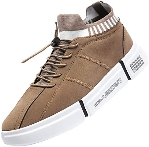 Catata Mens Hightop Fashion Sneakers Lightweight Walking Tennis Shoes