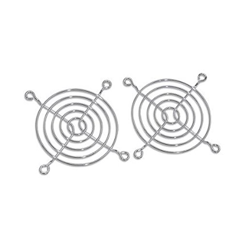 Grill Chrome Fan - MASSCOOL 80mm Cooling Fan Guard/Grill, Pack of 2 (FG-2P-80MM)