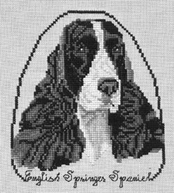 Pegasus Originals English Springer Spaniel Counted Cross Stitch Kit (Black and (Springer Spaniel Cross)