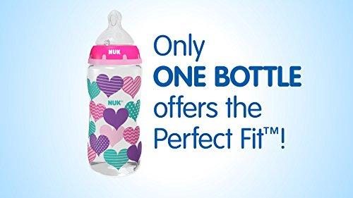 NUK Perfect Fit Bottle, Boy, 5oz
