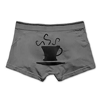 ZOZGETU Men's Boxer Briefs Underwear Soft Cotton Boxer Brief Cup of Coffee Printed Underpants,M/L/XL/XXL/3X