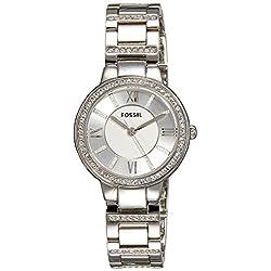 Fossil Women's ES3282 Virginia Three-Hand Stainless Steel Watch