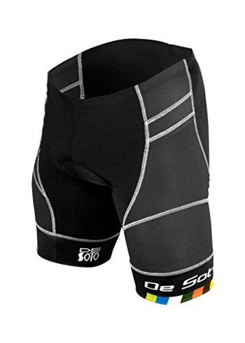DeSoto Men's Riviera Tri Short (Black, - Triathlon Wetsuit Sizing