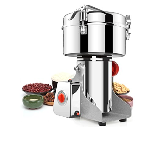 BMGIANT1000g Commercial electric stainless steel grain grinder mill Spice Herb Cereal Mill Grinder Flour Mill pulverizer