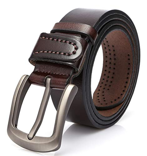 - SUNAHEAD Men's Casual Leather Belt for Dress 1.5