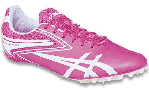 ASICS Women's Hyper-RocketGirl Sp 5 Track Shoe,Neon Pink/White,9.5 M US (Spikes Running Asics)