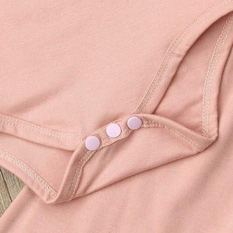 Newborn Baby Girl 2pcs Clothes Set Ruffle Long Sleeve Romper Pants Clothes