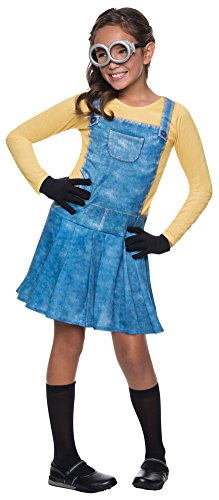 Girls Halloween Costume- Minion Female Kids Costume Medium 8-10