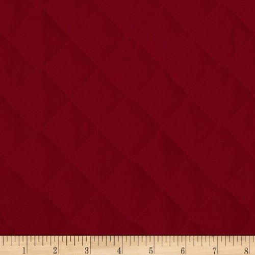 Double Sided Quilted Broadcloth Ming Red Fabric By The - Fabric Yard The By Pre-quilted