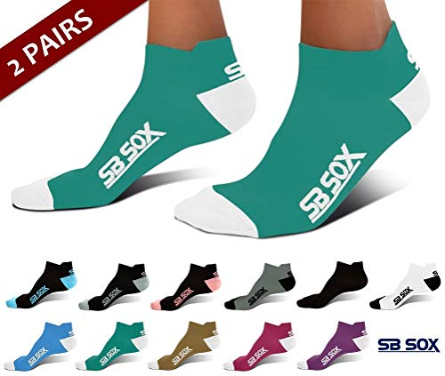 - SB SOX Ultralite Compression Running Socks for Men & Women (2 Pairs) - Perfect Option to Our Compression Socks - Best No-Show Socks for Running, Athletic, Everyday Use (Green/White, Medium)