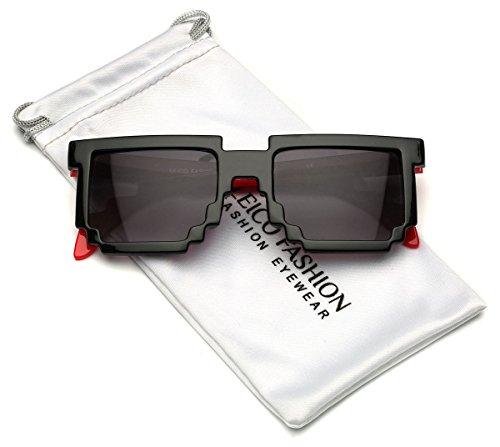 Kids 8-Bit Pixel Horn Rimmed Sunglasses for Ages 3 to - 8 Bit Prescription Glasses