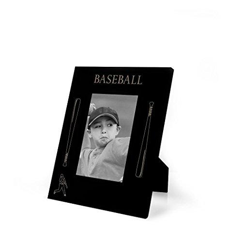 Baseball Photo Frame (Baseball Bats Engraved Baseball Picture Frame by ChalkTalk SPORTS | Vertical)