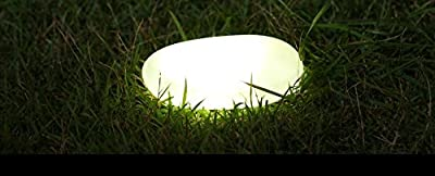Solar Path Paver Stones - Waterproof Solar LED Light for Garden Paths and Stairs - LED Stone Markers - Set of 3 Stone Lamps