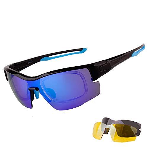 Lentes Aili Set Deportivas con para Polarizadas Hombre Gafas UV Protección 400 Mujer A Intercambiables A 3 Deportivas De zpXASprP