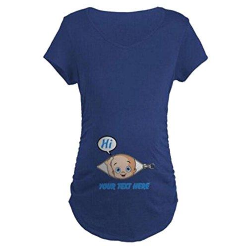Camiseta divertida linda del top del lema de maternidad camisetas SU PRUEBA ESCUCHA la camiseta Azul