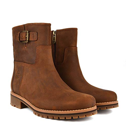 Marron Main Timberland Femme Bottes Hill Motardes vgnx0w