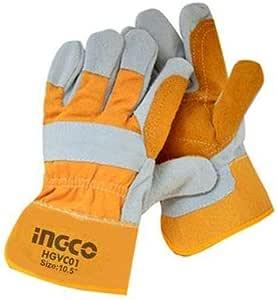 inGCO industrial heat resistant leather gloves HGVC01 - Orange Grey