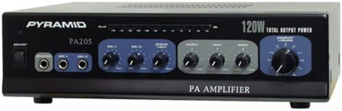 B00069QQD0 70V PA Speaker Amplifier Receiver - 120W Multi-Channel Public Address Audio Amplifier w/ Microphone Input, Mic Talkover, AUX/CD Player Support, For Home Audio System, DJ Sound System - Pyramid PA205 41fsj5t3jhL.