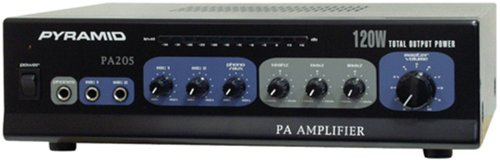 Pyramid PA205 Amplifier With Microphone Input (120-Watt)