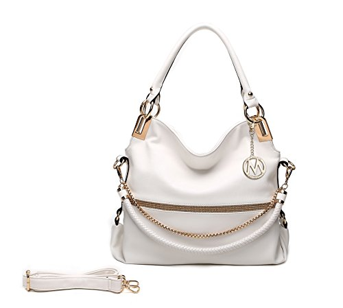 White Hobo Handbags - 6