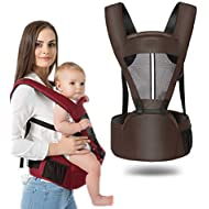 Kaipiclos Baby Carrier with Hip Seat for Newborn Infant and Toddler, Ergonomic Baby Wrap Carrier Hipseat Backpack