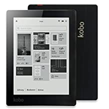 6 inch E-Reader Kobo Aura Ebook Reader e-Ink Resolution 1024x758 N514 Built-in Front Light eBook Reader WiFi 4GB Memory (Black)