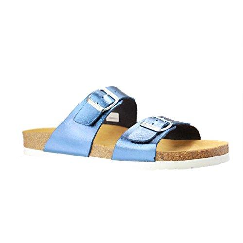 Mujeres Mulas 36 37 38 39 40 41 azul Dr. Brinkmann 700993-5 plantilla suave Azul