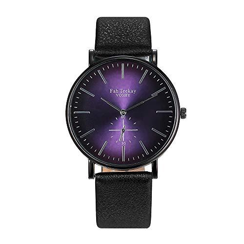 Masun Watches Womens Gold Numbers Wrist Watch Women's 38mm PU Leather Strap Mechanical Hand-Wind Wristwatch