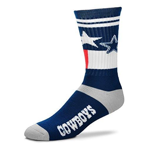 For Bare Feet Landmark Flag State Men's Crew Socks - Dallas Cowboys (Medium) ()