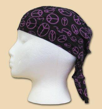 Flagline Purple Peace Sign - Novelty Ezdanna Headwraps