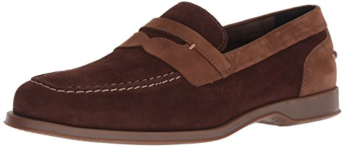 Cole Haan Men's Fleming Penny Loafer muir Suede, 10.5 M - Suede Loafers Brown
