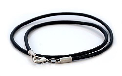 Bico 3mm (0.12 inch) Black Leather Necklace (CL7 Black) Tribal Skate Jewelry