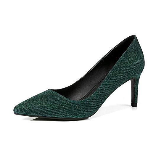 Red Blue Comfort Shoes Stiletto Green Heels ZHZNVX Heel Green Women's Spring Synthetics q5vYngw8gx