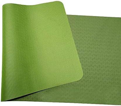 Yoga mat ヨガのすべてのタイプのノンスリップヨガマット。環境にやさしいTPE素材 - ノンスリップ耐久性と軽量ダブルデザインサイズ182.9 X 61 cm厚さ6ミリメートル workout
