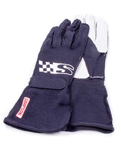 Simpson Safety Large Black Single Layer Super Sport Driving Gloves P/N SSLK