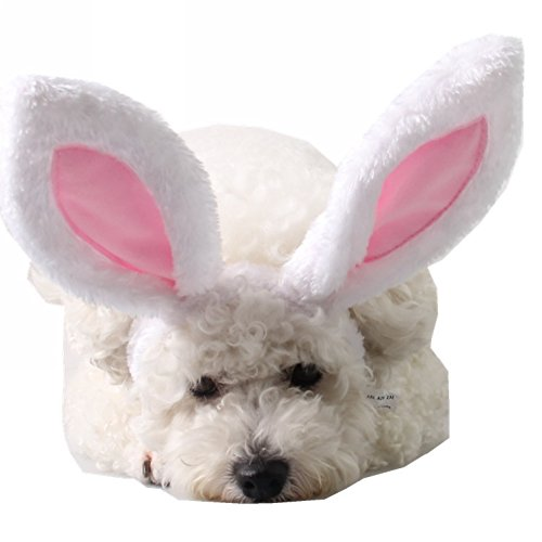 BUYITNOW Plush Bunny Ears Pet Headband Christmas Rabbit Costume for Small Dogs Cats