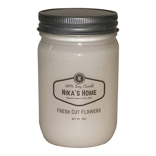 Nika's Home Fresh Cut Flowers Soy Candle - 12oz Mason ()