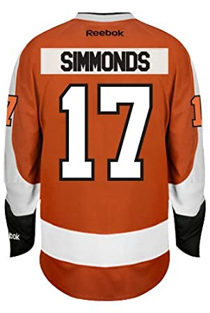 huge discount e498b 00f8b Wayne Simmonds Philadelphia Flyers Reebok Premier Home Jersey NHL Replica