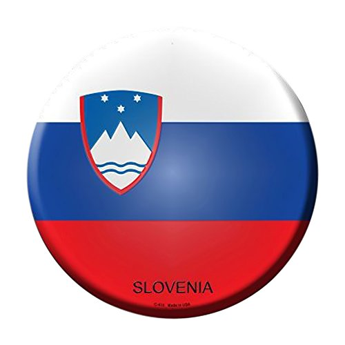 Smart Blonde Slovenia Country Novelty Metal Circular Sign C-415 ()