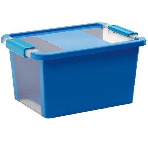 SIK Kis 8452000 0594 01 Bi Box-Caja de almacenaje pl/ástico 11 L Color Gris y Transparente