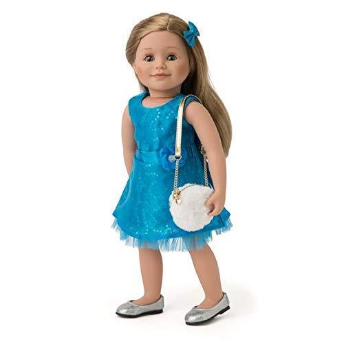 Fancy Faux Fur Purse for 18 Inch Doll Like American Girl Maplelea Fur Funz