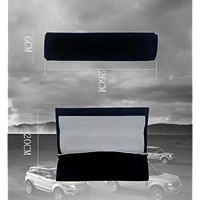 QZS Car Seat Belt Cover - 1 Pair/Set Car Seat Belt Shoulder Pads Strap Cover Cushions for Cadillac Cars: Automotive