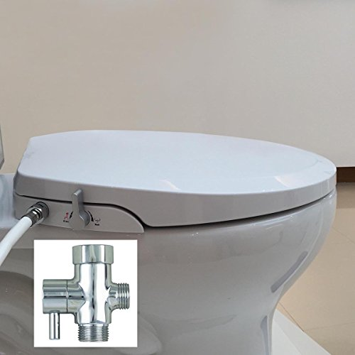Hibbent Non Electric Bidet Toilet Seats with Cover - No E...
