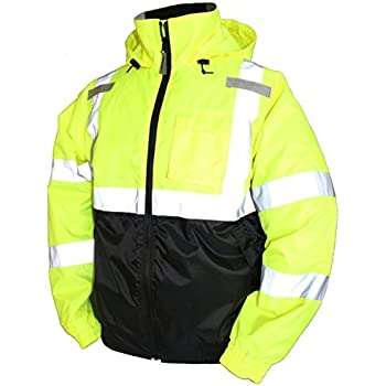 Kwiksafety Class 3 High Vis Bomber Safety Jacket Long
