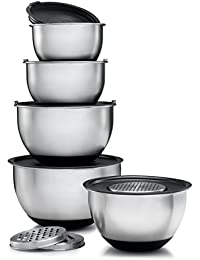 Purchase Sagler Stainless Steel Mixing Bowls Set of 5, with Lids and 3 kind of graters wholesale