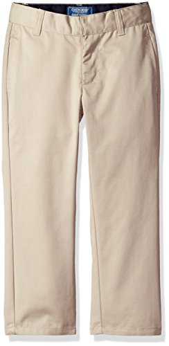 Adjustable Waist Khaki (Cherokee Little Boys' Uniform Twill Modern Fit Pant With Adjustable Waist, Khaki, 7)