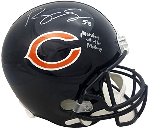 Midway Signed Replica Helmet - Roquan Smith Signed Chicago Bears Riddell Full Size Replica Helmet w/Monsters of the Midway