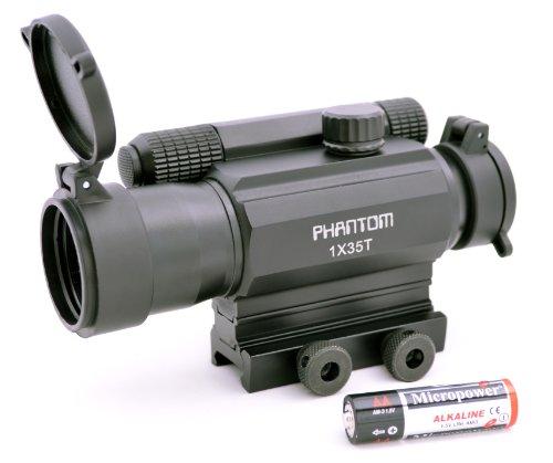 Phantom Tactical Green Red Dot Reflex Sight 1X35T with Picat