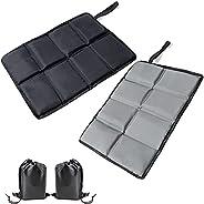 Xunfeney 2Pcs Larger Size Foam Hiking Seat Pad,Waterproof Ultralight Portable 3 Layers Sit Upon Pad,Foldable S